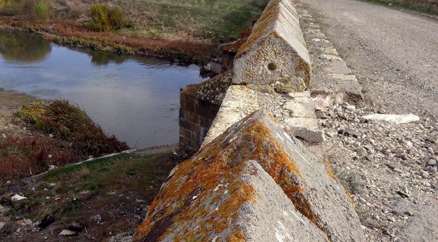 Yüzlerce yıllık köprü definecilerin hedefi oldu