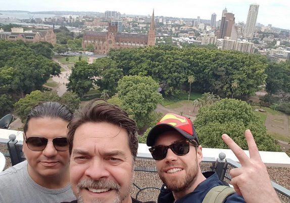 Beyazıt Öztürk, program konuklarıyla birlikte selfie çekti
