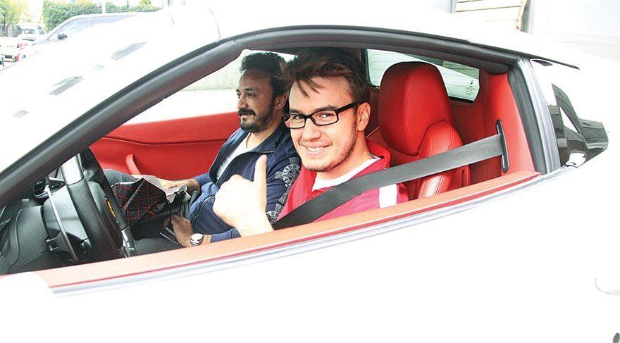 O Ferrari Mustafa Ceceli'ye aitmiş!