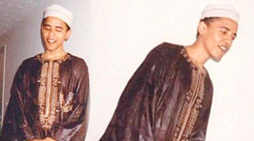 Barlas'ın yazısı ABD Başkanı Obama'nın genç yaşlarda çektirdiği takkeli fotoğrafını akla getirdi.