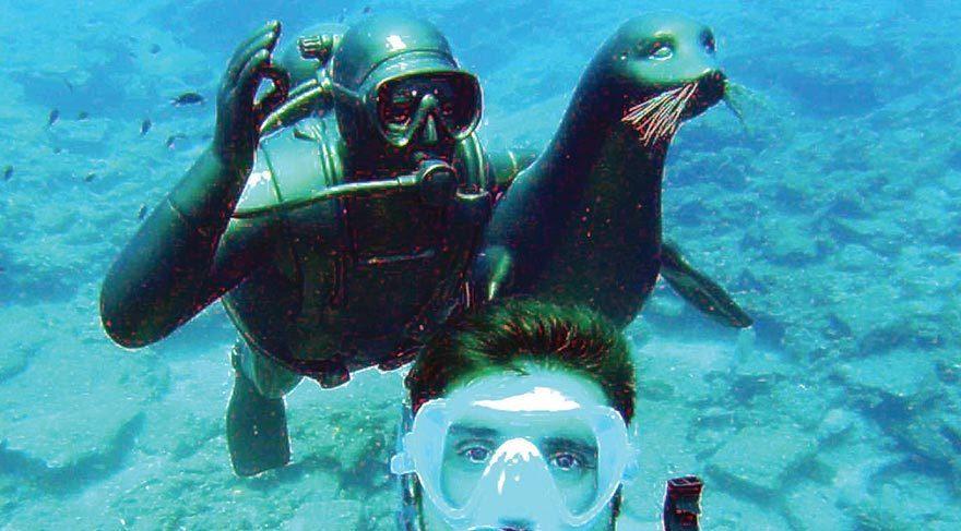 Badem ve Mustafa V. Koç heykeli kısa sürede deniz canlılarının, temiz denizin, su altındaki cennetin sembolü oldu.
