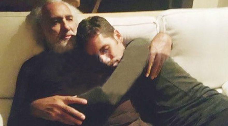 Rüzgar Çetin tahliye olduktan sonra babası Sinan Çetin'le bir araya geldi