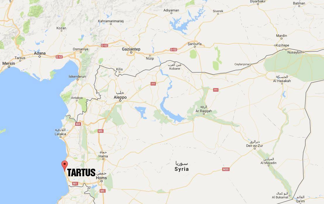Tartus, Hatay'ın sınır ilçesi Samandağı'na sadece 180 km mesafede bulunuyor.