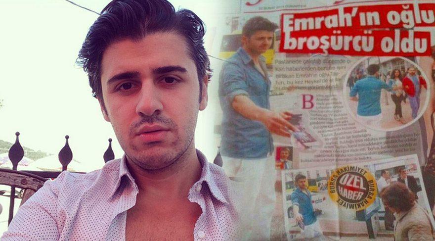 Tayfun Erdoğan, 'Emrah'ın oğlu broşürcü oldu' haberine tepki gösterdi