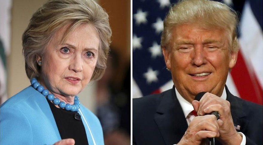 Clinton ve Trump önce pistte 'kapıştılar'