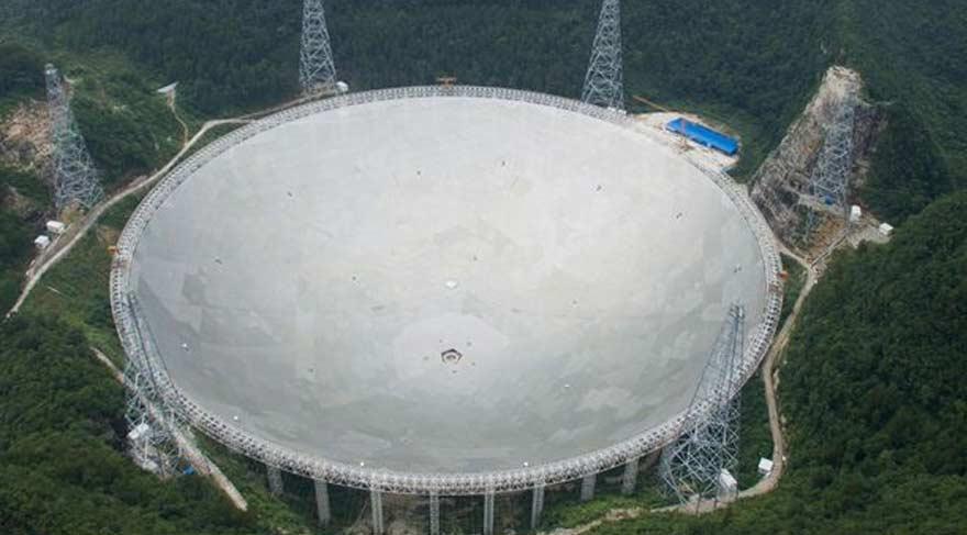 Dünyanın en büyük teleskopu Çin'de