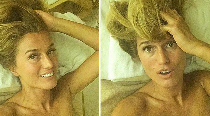 Tuğba Özay'dan yatak odası selfieleri