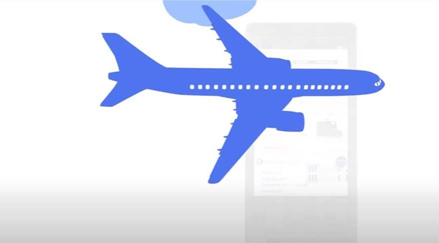 Google'dan ucuz uçak bileti