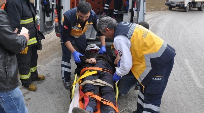 İnegöl'de kaza: 2 yaralı