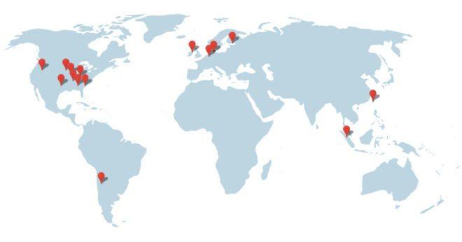 Google'ın dünya üzerindeki veri merkezleri
