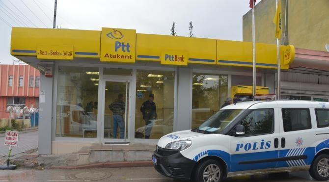 Adana'da maskeli 2 kişi PTT şubesini soydu