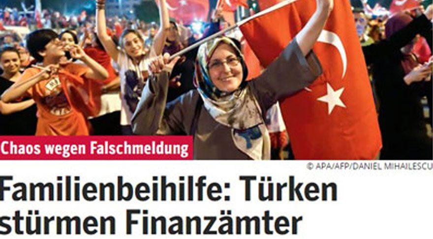 Avusturya gazetelerinden Türklerle ilgili skandal haber