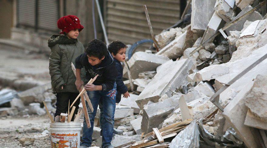 Halep'te muhaliflerin elindeki bölge ikiye bölündü