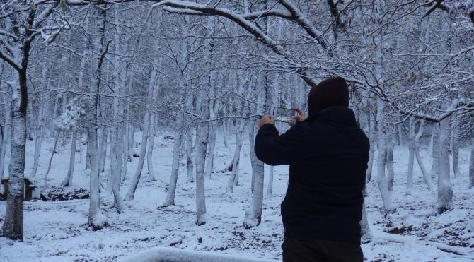 Çanakkale'de kar manzaraları