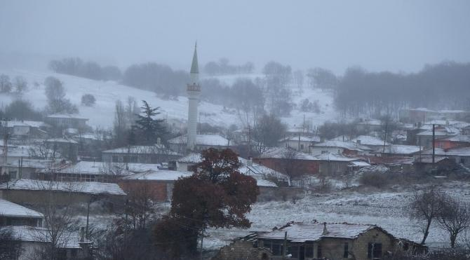 Kırklareli'de kar yağışı başladı