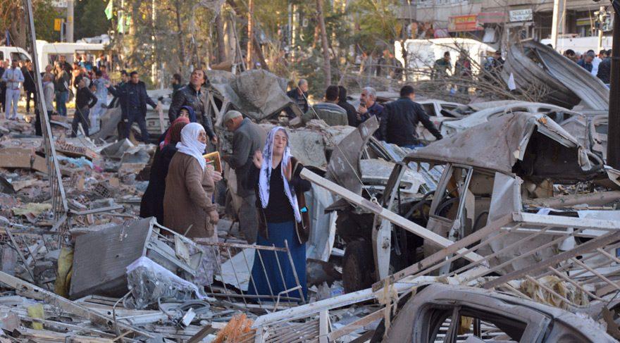 Diyarbakır'da meydana gelen patlamadan görüntüler