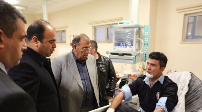 Şanlıurfa'da teröristler polis aracına saldırdı: 3 polis yaralı (3)