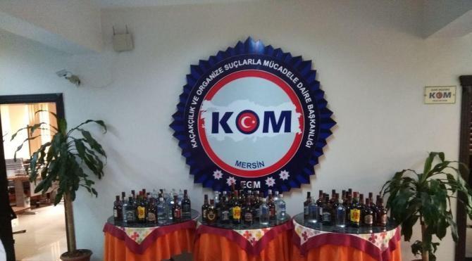 Mersin'de sahte içki üretimine 15 tutuklama