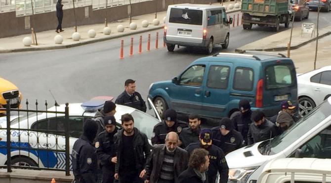 Çerkezköy'de PKK operasyonunda gözaltına alınan 9 kişi adliyede