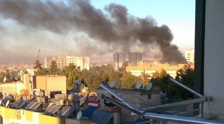 FOTO:DHA/ Patlama sonrası oluşan duman kentin uzak noktalarından bile görüldü.