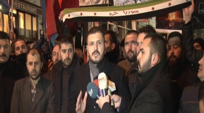 Beyoğlu'nda alperenler'den halep protestosu