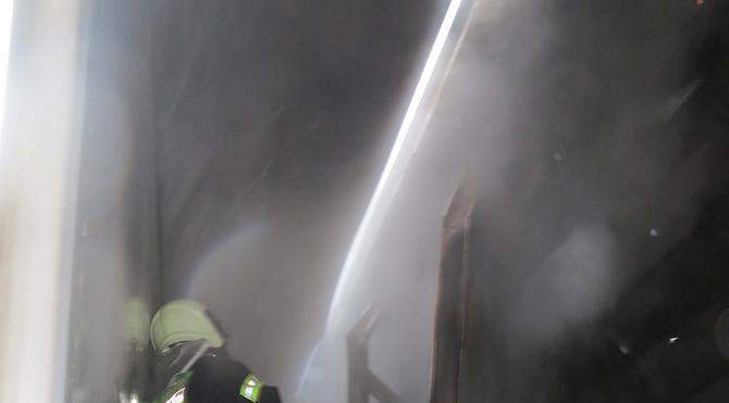Gardaki vagonda yangın çıktı