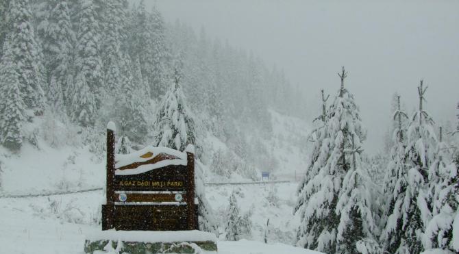 Ilgaz Dağı'nda kar 30 santime ulaştı