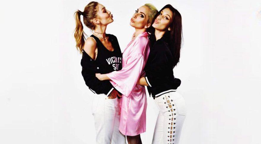Lady Gaga, Gigi ve Bella Hadid ile birlikte