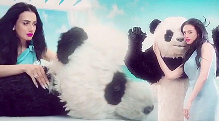 Imani yengenin 'Panda'yla samimi görüntüleri