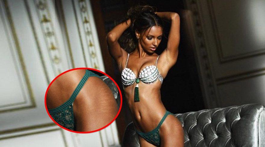 Victoria's Secret modeli Jasmine Tookes'un çatlakları olay oldu