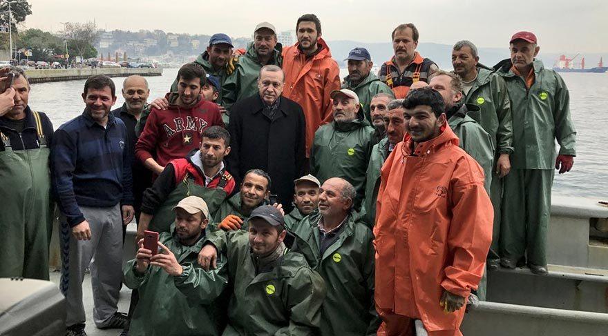 Cumhurbaşkanı Erdoğan, balık avı dönüşü konuştu