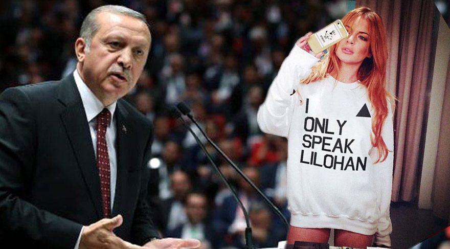 Lindsay Lohan'dan Cumhurbaşkanı Erdoğan mesajı
