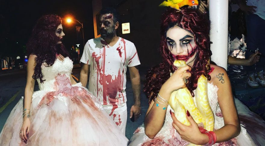 Süreyya Yalçın'ın 'Cadılar Bayramı' kostümü