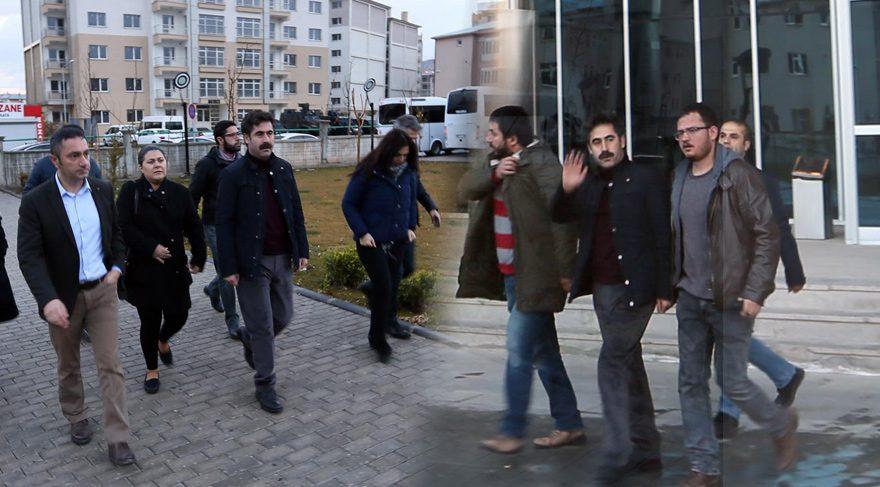 FOTO:DHA -Sabah saatlerinde belediyeye gelen Başkan Kaya daha sonra gözaltına alındı.