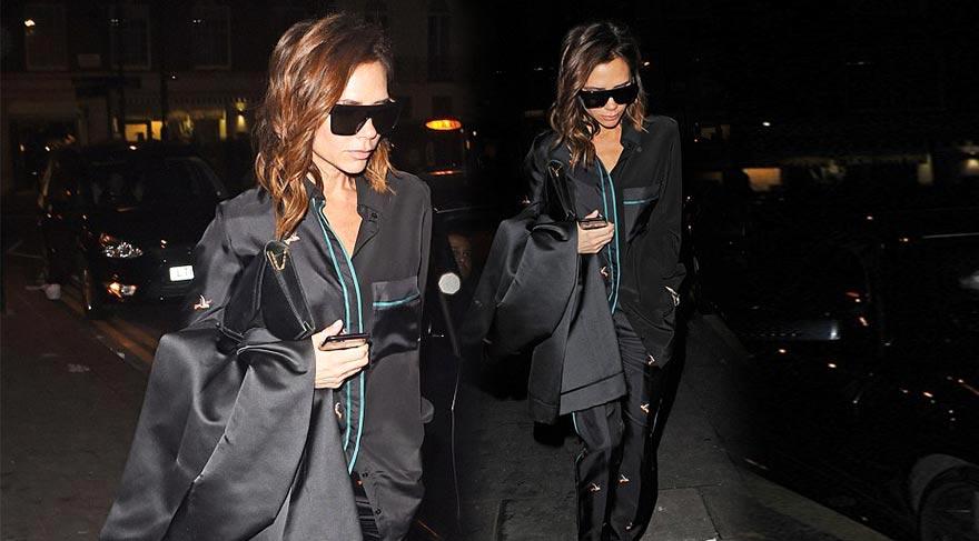 Victoria Beckham pijamayla sokağa çıktı