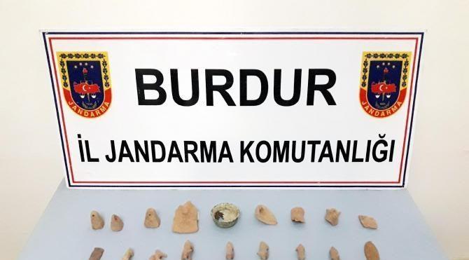 Bucak'ta tarihi eser operasyonu