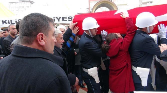 Şehit polis Şahin Kilis'te uğurlandı