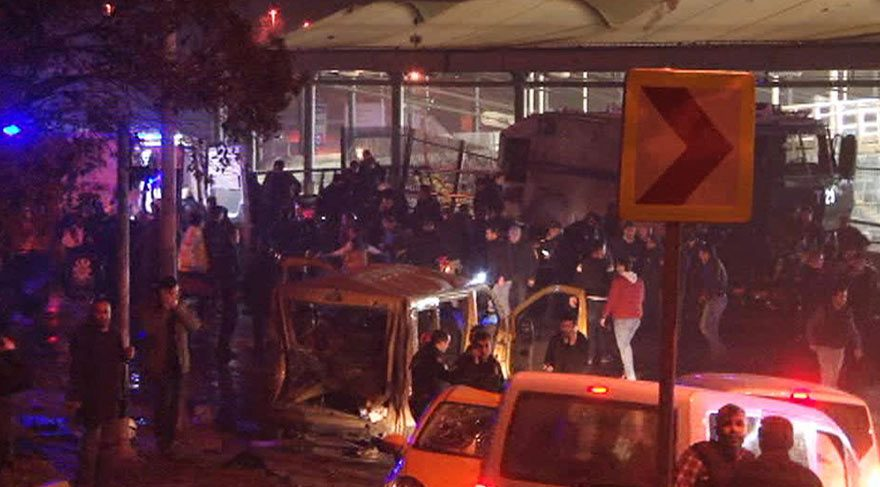 Beşiktaş'taki patlamadan ilk görüntüler