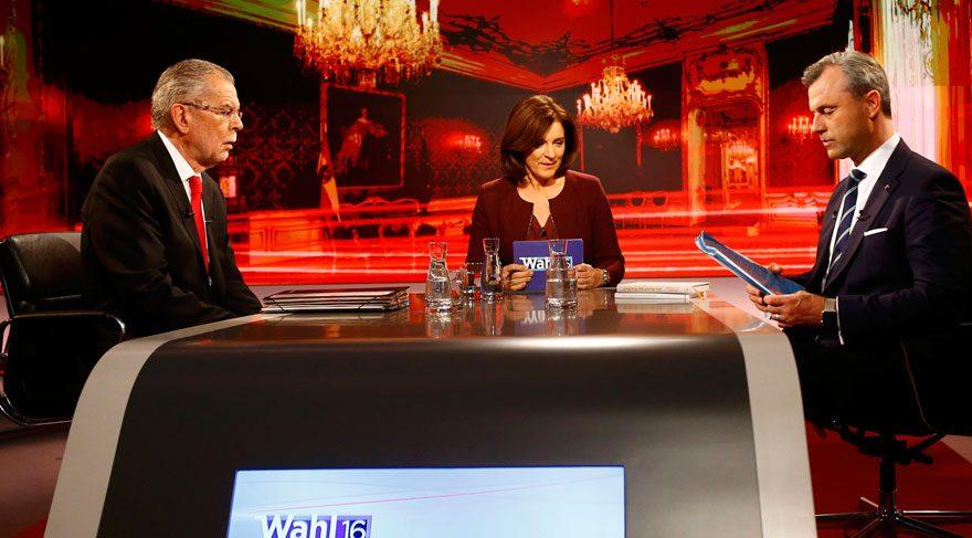 Avusturya'da adaylar canlı yayında fena kapıştı