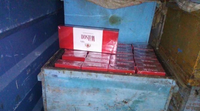 Arı kovanlarından kaçak sigara çıktı