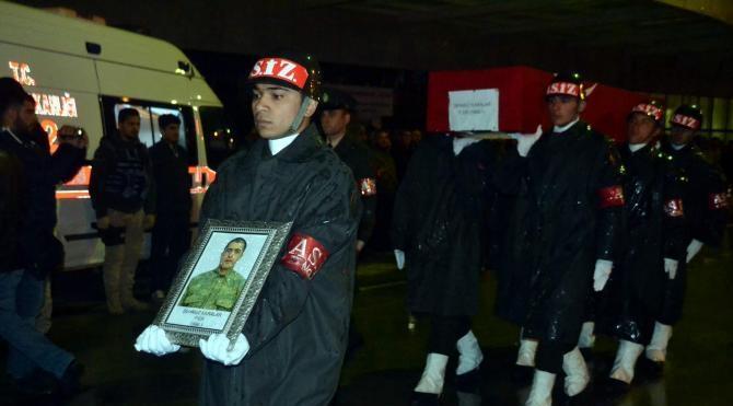 Kalp krizi sonucu şehit olan askere uğurlama töreni