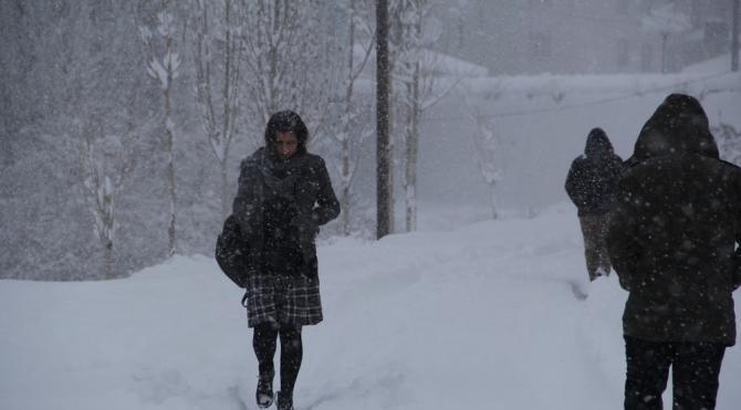 Başkale'de kar esareti