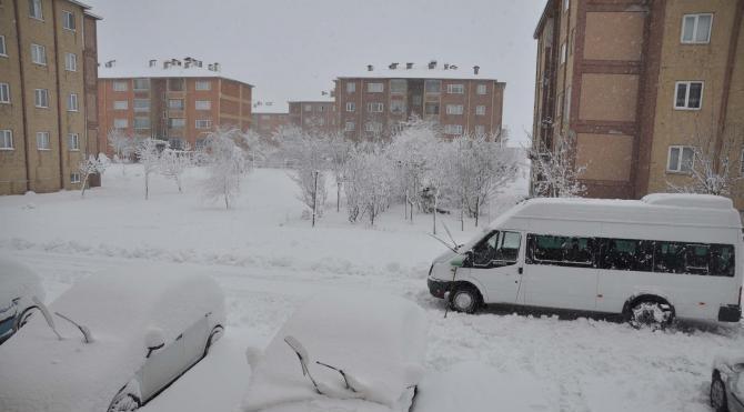 Doğu'da kar köy yollarını kapattı