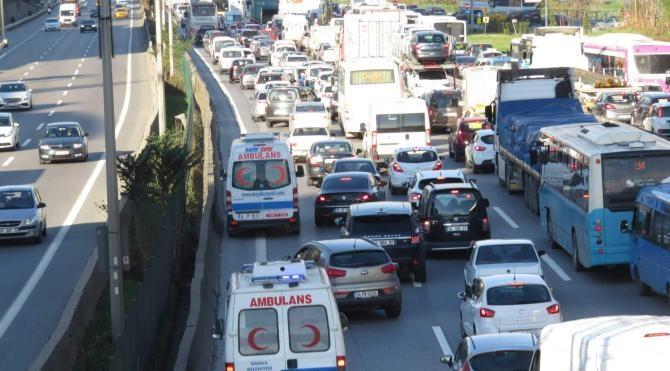 Anadolu yakasında trafik çilesi