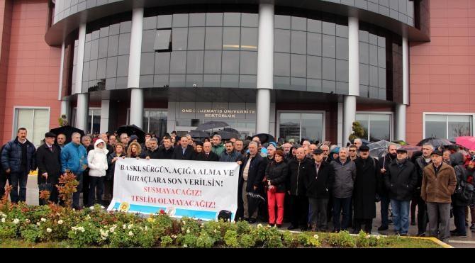 Samsun'da KHK eylemi; İhraç edilenler görevlerine dönmeli