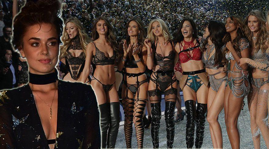 Bensu Soral Paris'te Victoria's Secret şovuna katıldı