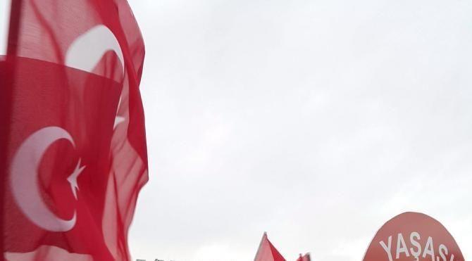 Mardin'de terörü protesto mitingi