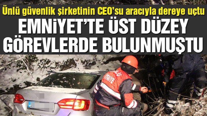 Uluslararası özel güvenlik şirketinin CEO'su Bolu'da kaza yaptı