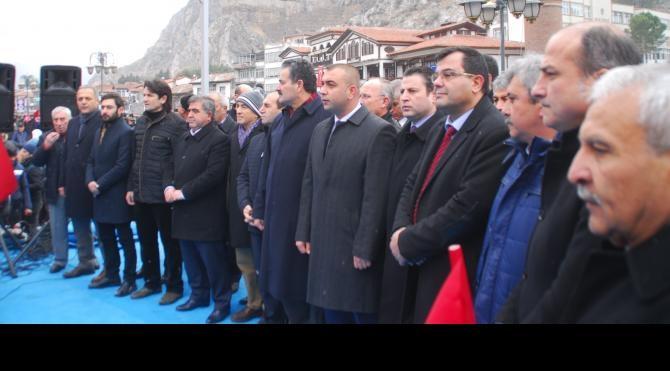 Amasya'da teröre lanet için 5 bin kişi yürüdü