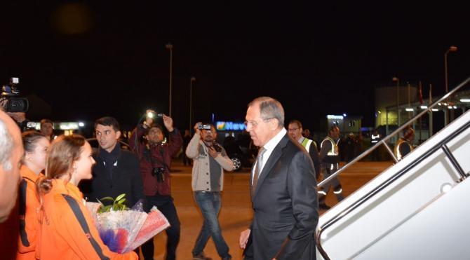 Rus Bakan Lavrov, GazipaşaAlanya Havalimanı'na indi